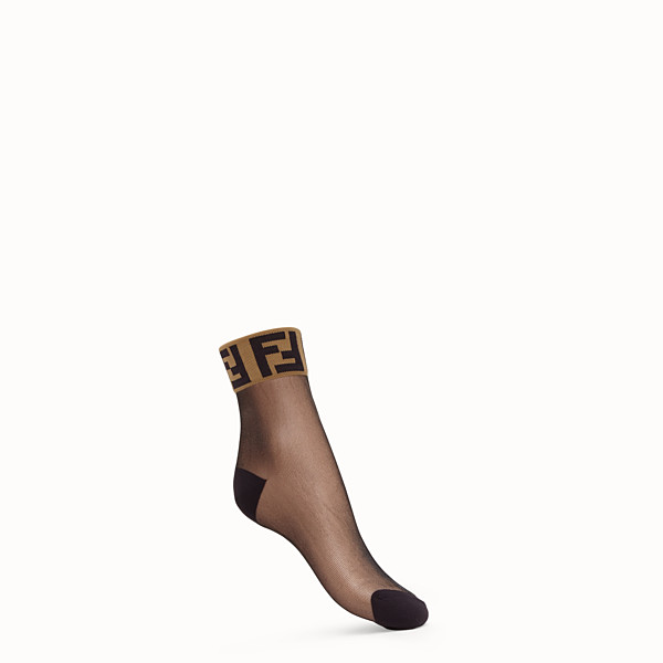 FENDI SOCKEN - Socken aus schwarzem transparentem Nylon - view 1 small thumbnail