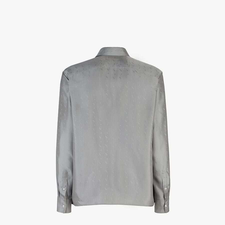 FENDI SHIRT - Gray silk shirt - view 2 detail