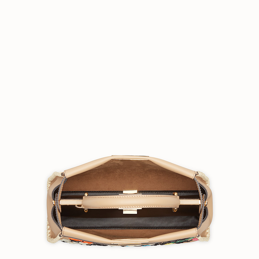 FENDI PEEKABOO REGULAR - Brown leather bag - view 4 detail