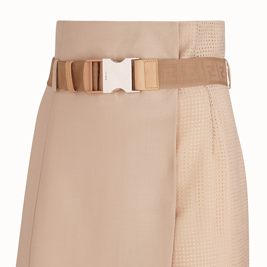 FENDI SKIRT - Beige mohair skirt - view 3 detail