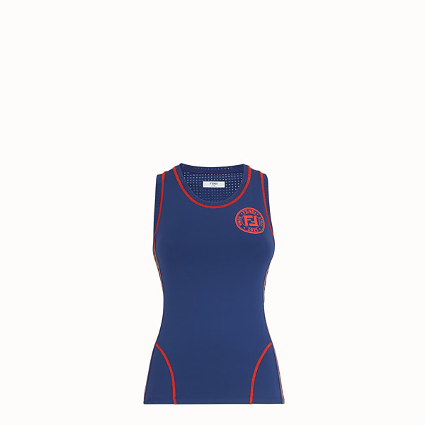 FENDI TANK TOP - Blue fabric fitness top - view 1 small thumbnail