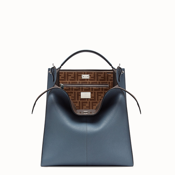 FENDI PEEKABOO X-LITE FIT - Blue Romano leather bag - view 1 small thumbnail