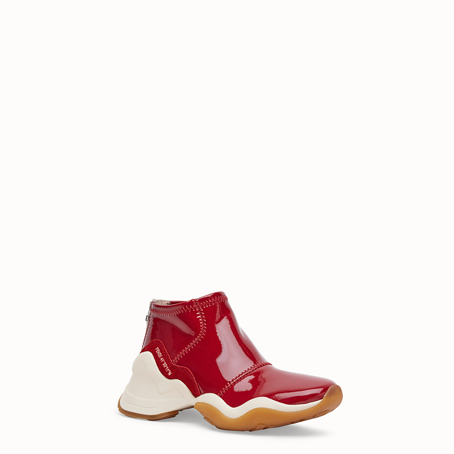 FENDI SNEAKERS - Sneakers aus Glossy-Neopren in Rot - view 2 detail