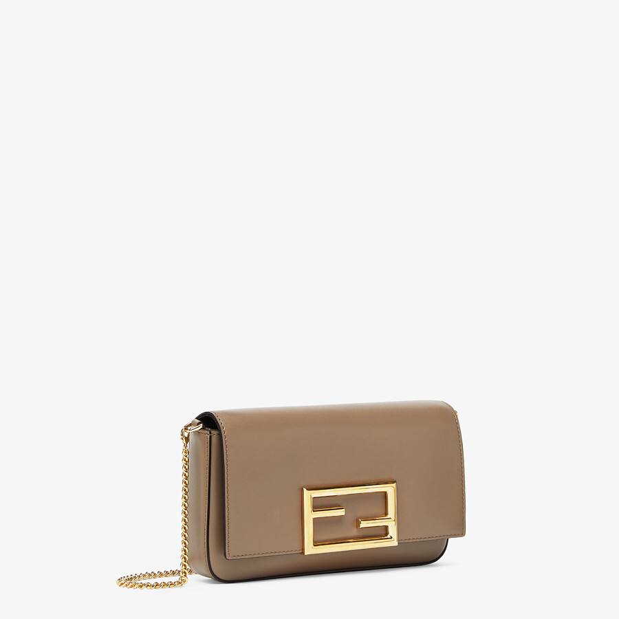 FENDI WALLET ON CHAIN WITH POUCHES - Grey leather mini-bag - view 3 detail
