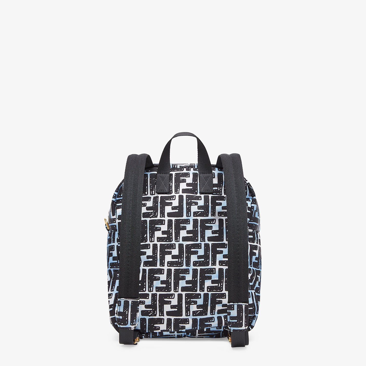 FENDI BAGUETTE BACKPACK - FF print nylon backpack - view 4 detail