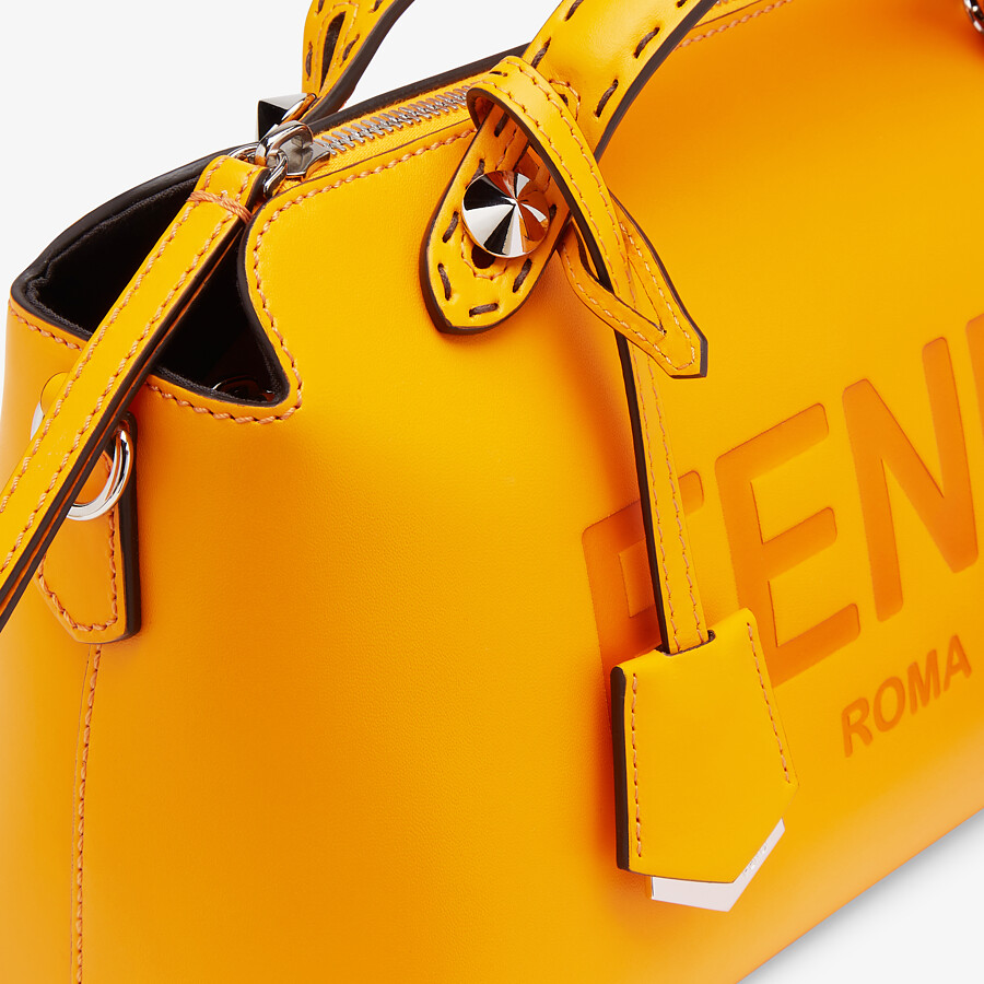 FENDI BY THE WAY MEDIUM - Orange leather Boston bag - view 6 detail
