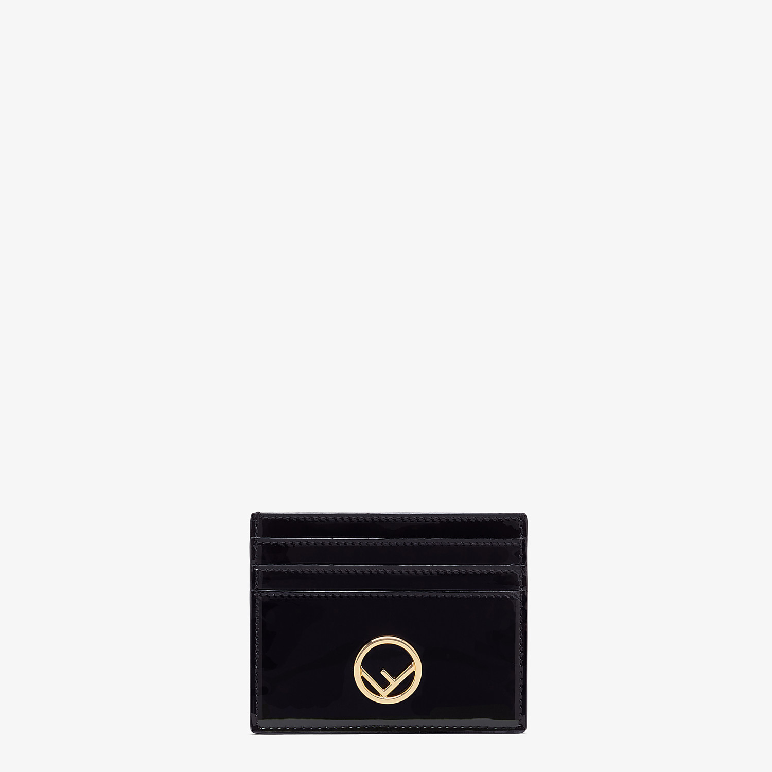 FENDI CARD HOLDER - Flat card holder in black patent leather - view 1 detail