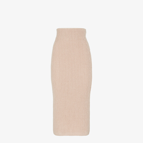 Pink mohair skirt