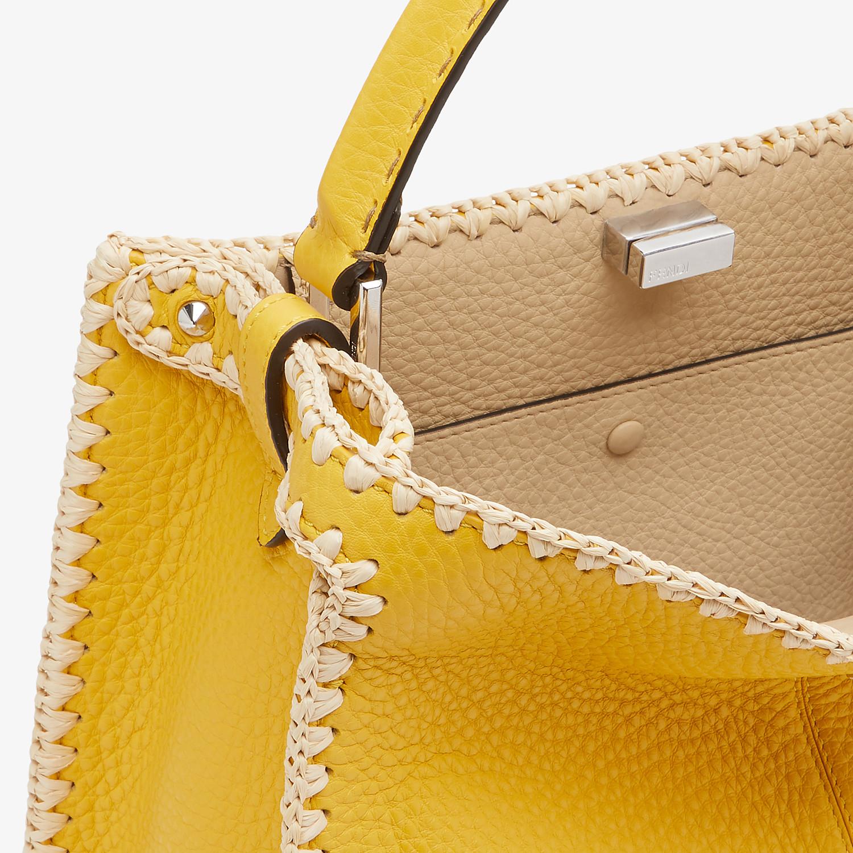 FENDI PEEKABOO X-LITE MEDIUM - Yellow leather bag - view 6 detail