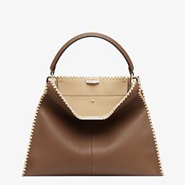 FENDI PEEKABOO X-LITE LARGE - Brown leather bag - view 3 thumbnail