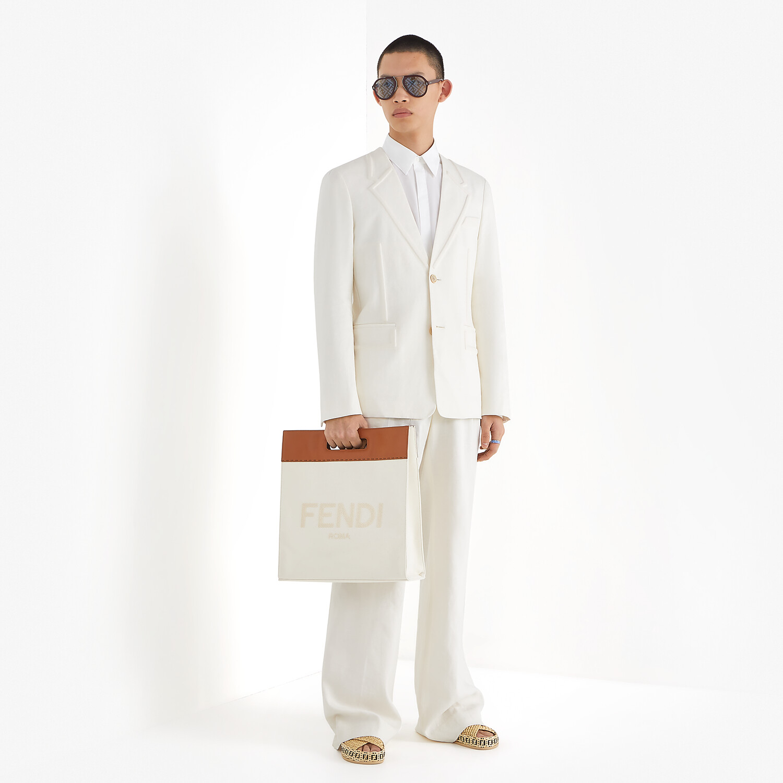 FENDI JACKET - White linen blazer - view 6 detail