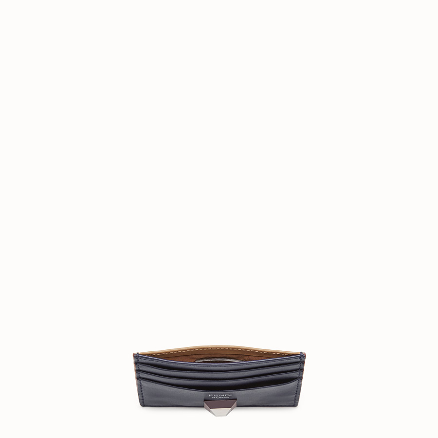 FENDI CARD HOLDER - Two-tone leather card holder with six slots - view 4 detail