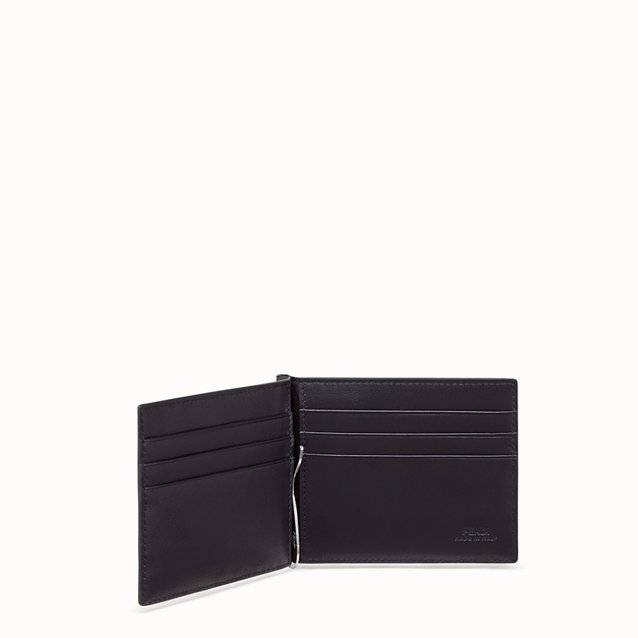 FENDI CARD HOLDER - Brown fabric money clip - view 3 detail