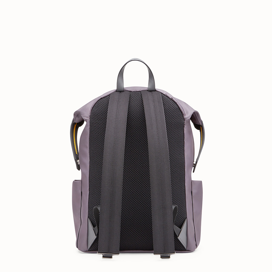 FENDI BACKPACK - Grey nylon backpack - view 3 detail
