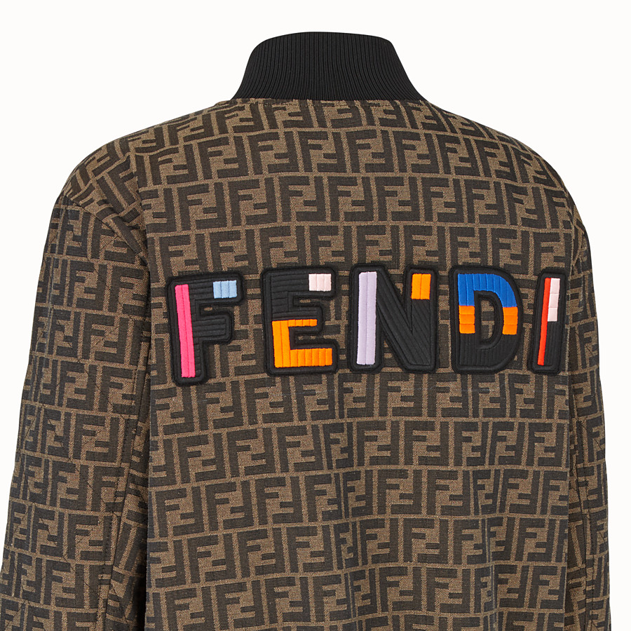 FENDI BLOUSON - Blouson aus Canvas in Braun - view 3 detail