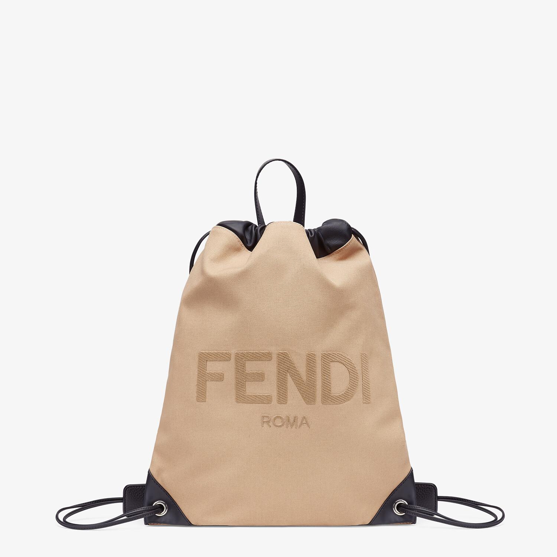 FENDI BACKPACK - Beige canvas backpack - view 1 detail