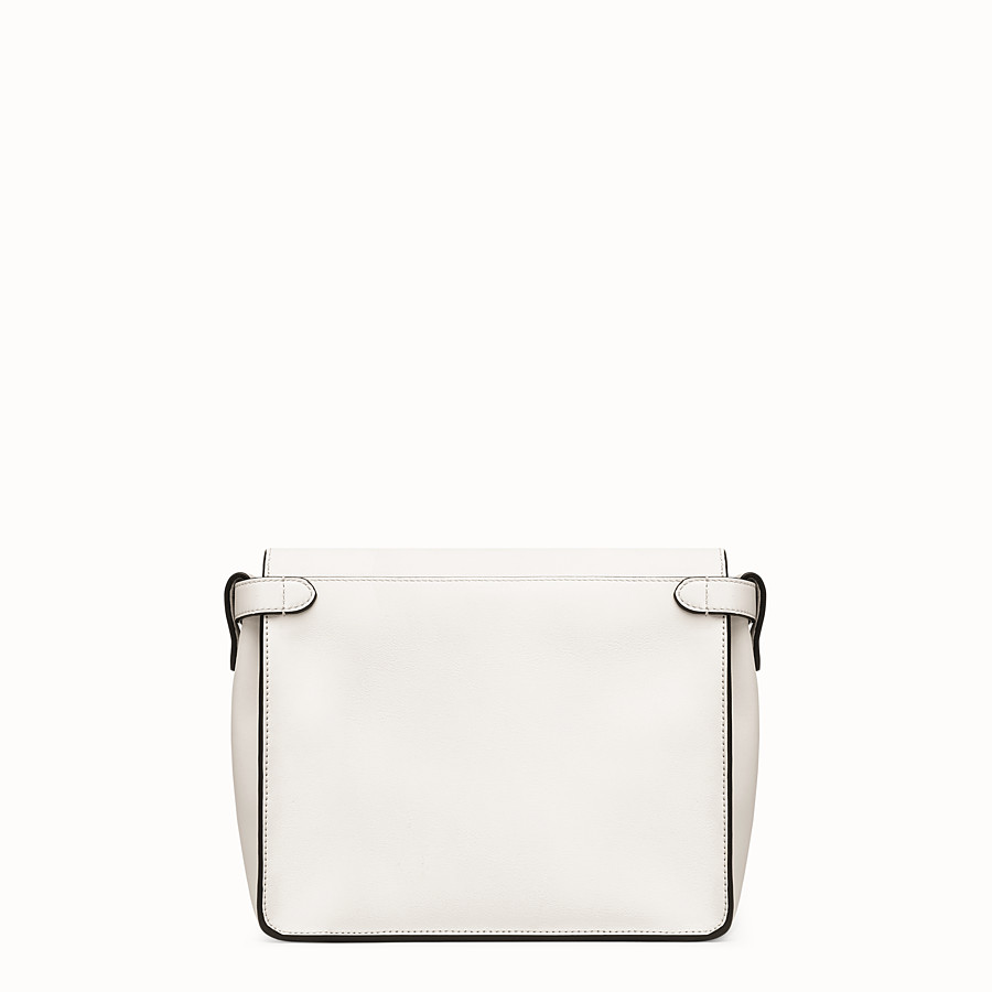 FENDI FENDI FLIP REGULAR - White leather bag - view 4 detail