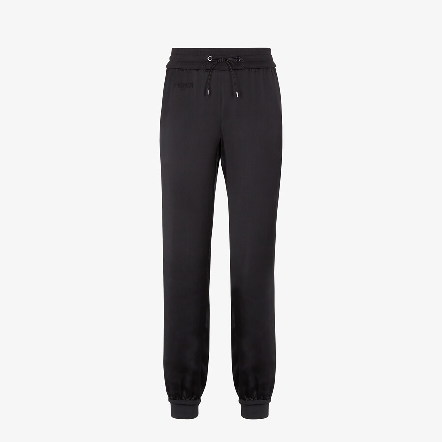 FENDI JUMPSUIT - Black satin sweatshirt and pants - view 4 detail