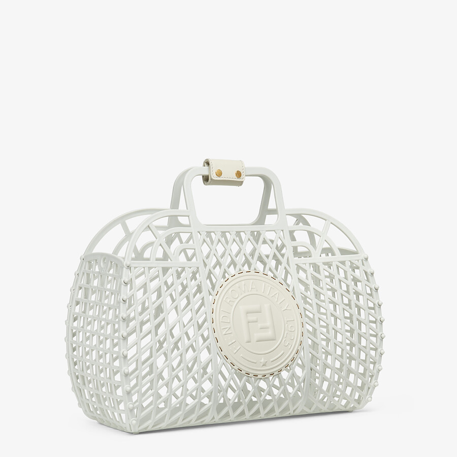 FENDI FENDI BASKET MEDIUM - White recycled plastic mini-bag - view 3 detail