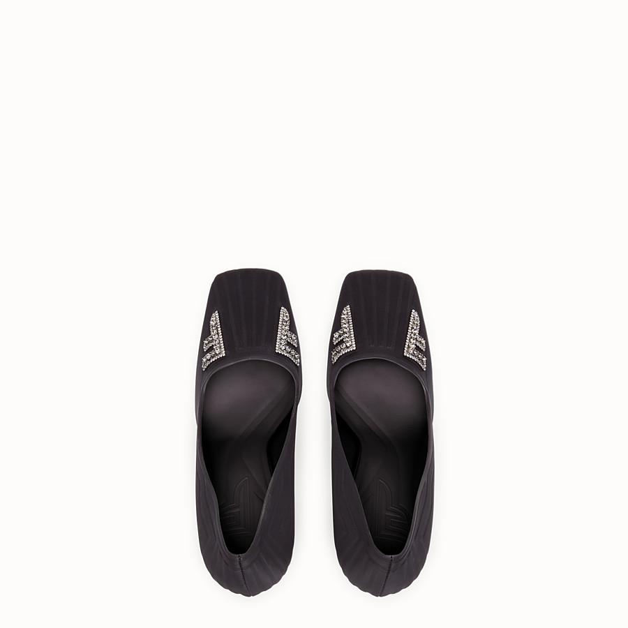 FENDI COURT SHOES - Court shoes in black satin - view 4 detail