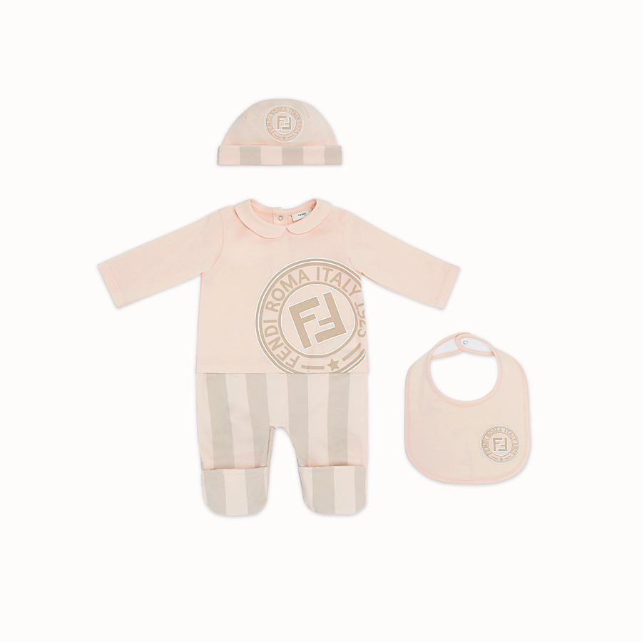 FENDI BABY KIT - Pink jersey baby kit - view 1 detail