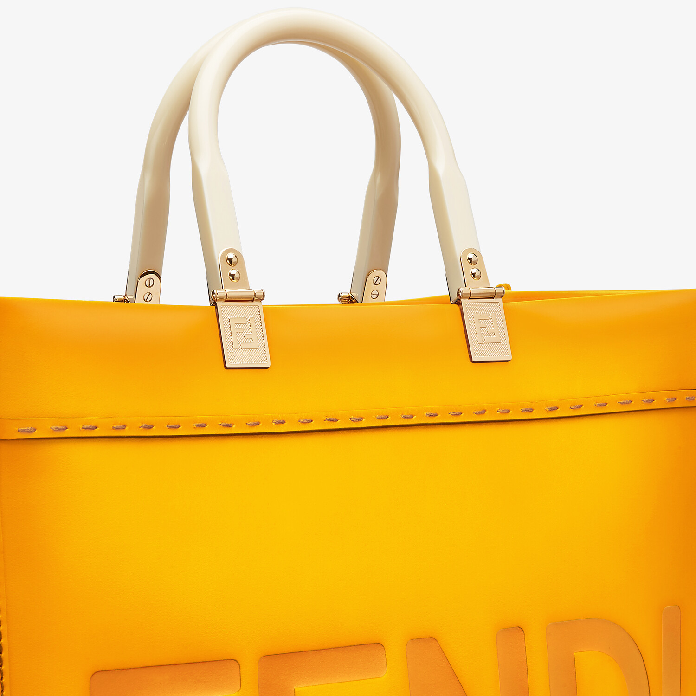 FENDI FENDI SUNSHINE MEDIUM - Orange leather shopper - view 5 detail