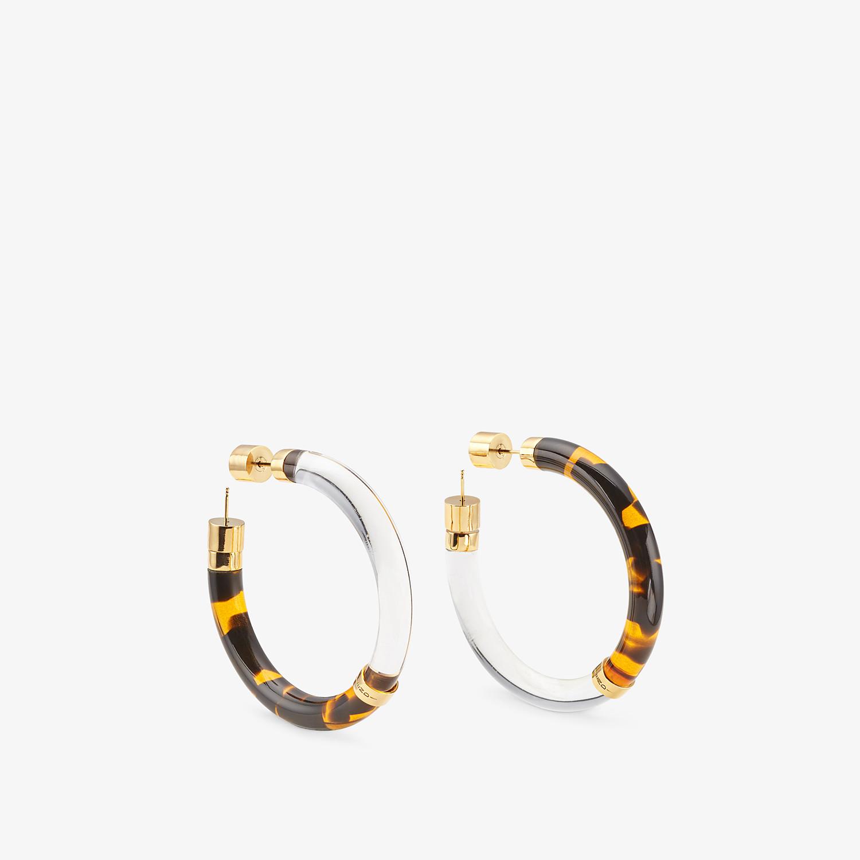 FENDI EARRINGS - Transparent plexiglass earrings - view 1 detail