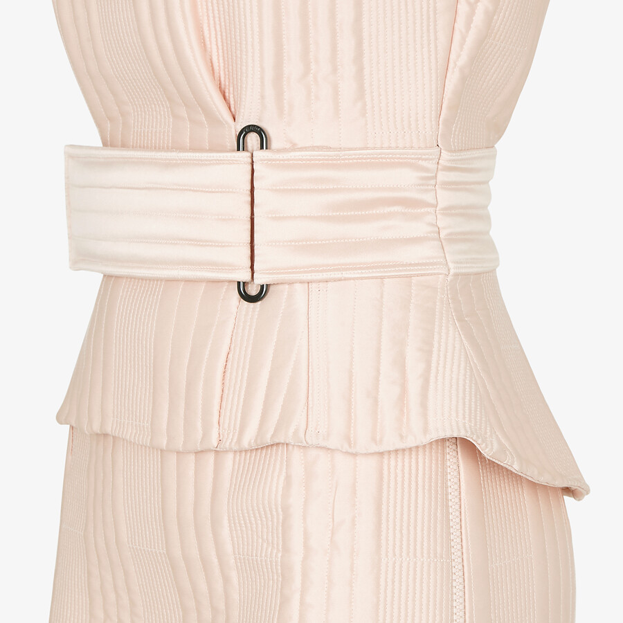 FENDI DRESS - Pink satin dress - view 3 detail