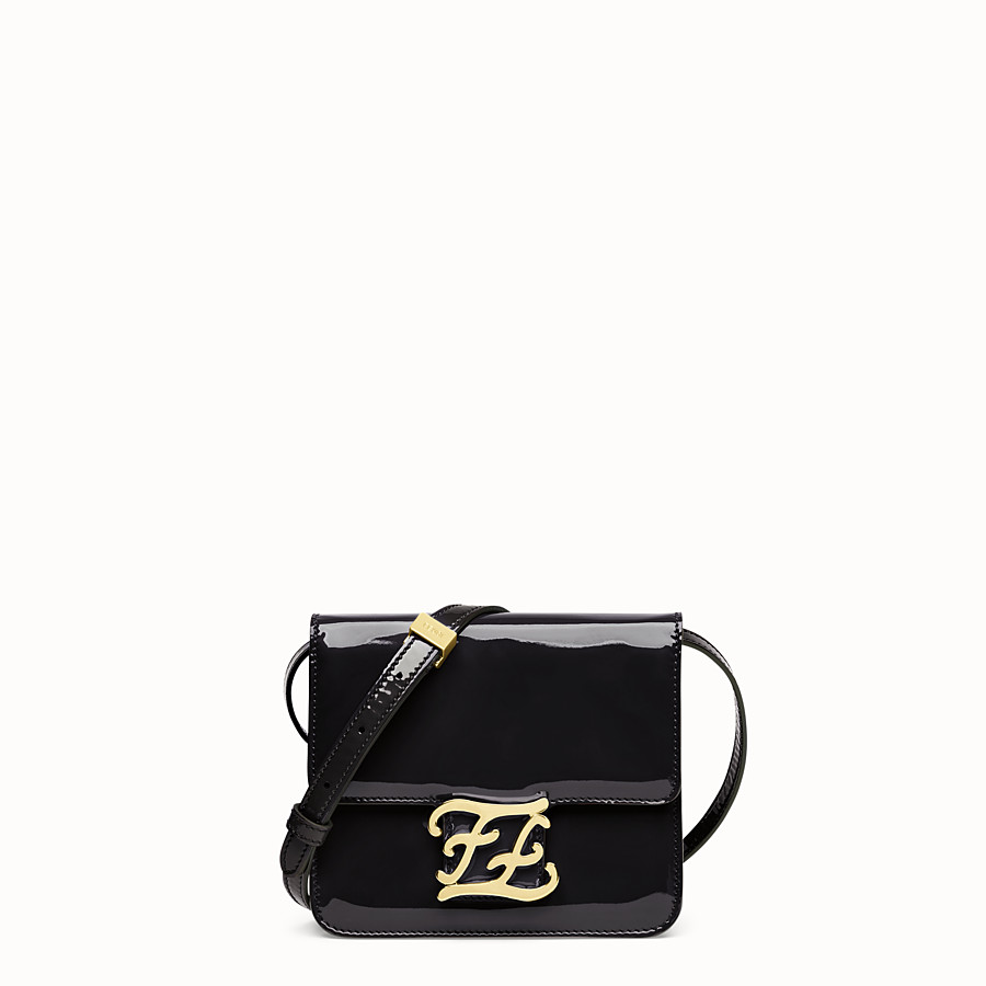 FENDI KARLIGRAPHY - Black patent leather bag - view 1 detail