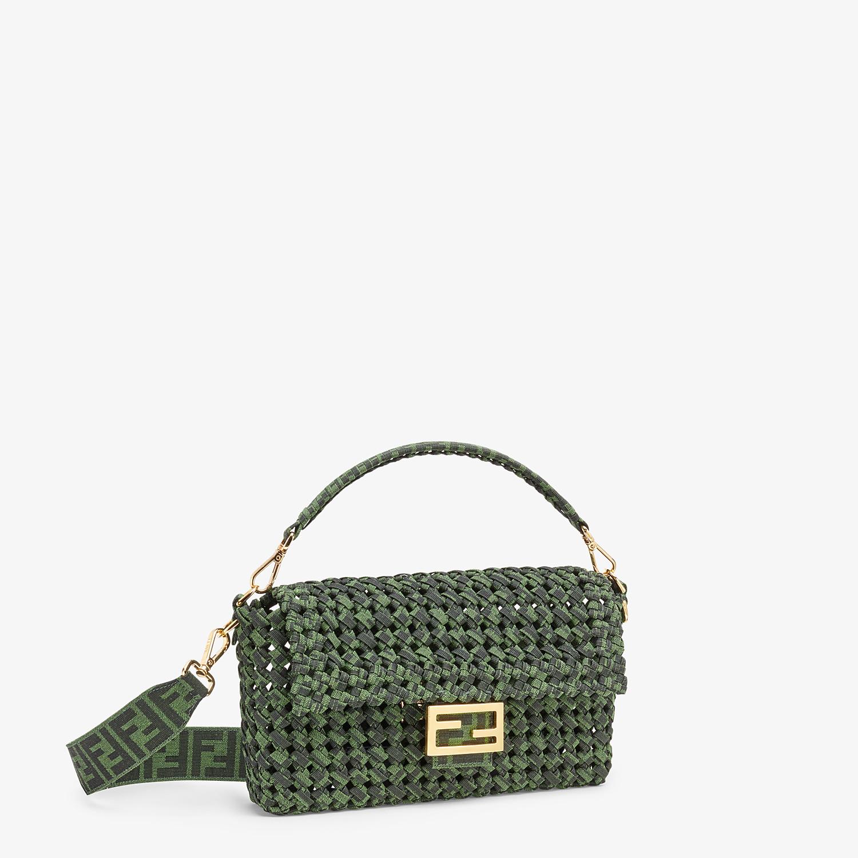 FENDI BAGUETTE - Jacquard fabric interlace bag - view 3 detail