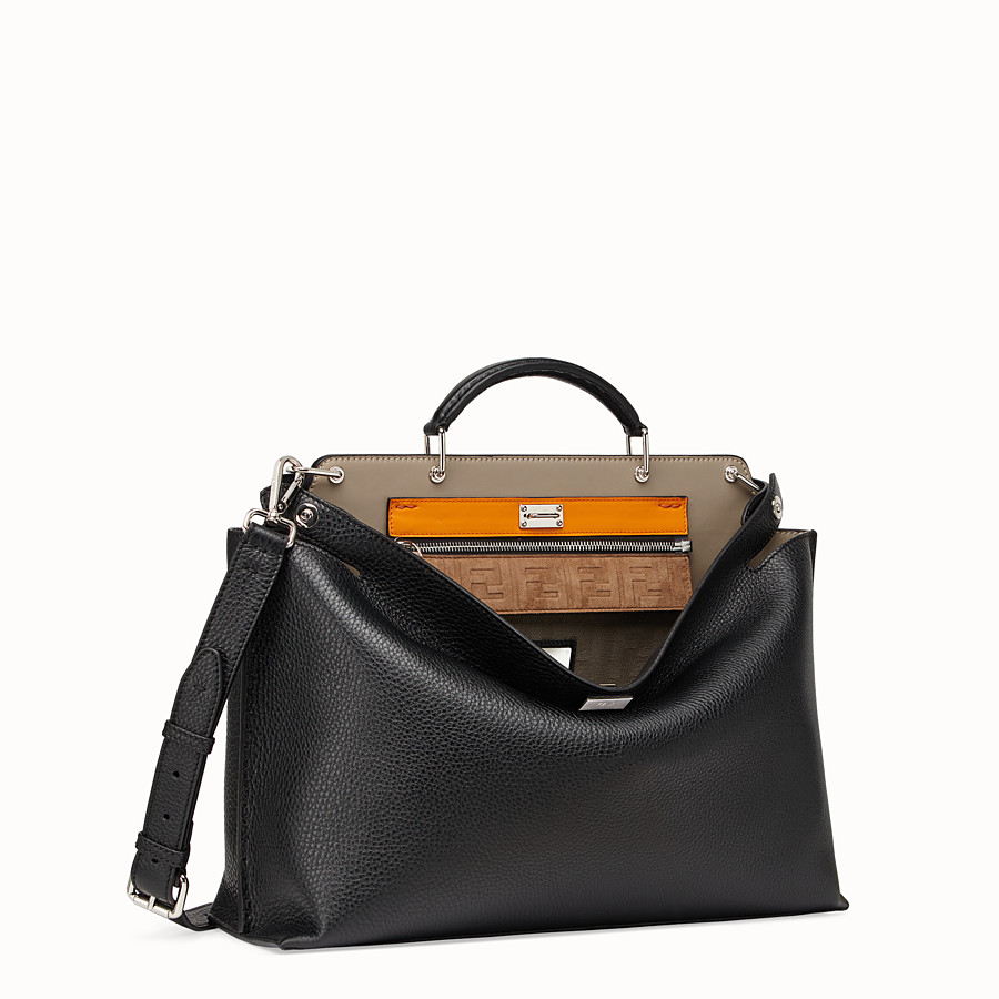 FENDI PEEKABOO ICONIC ESSENTIAL - Black leather bag - view 3 detail