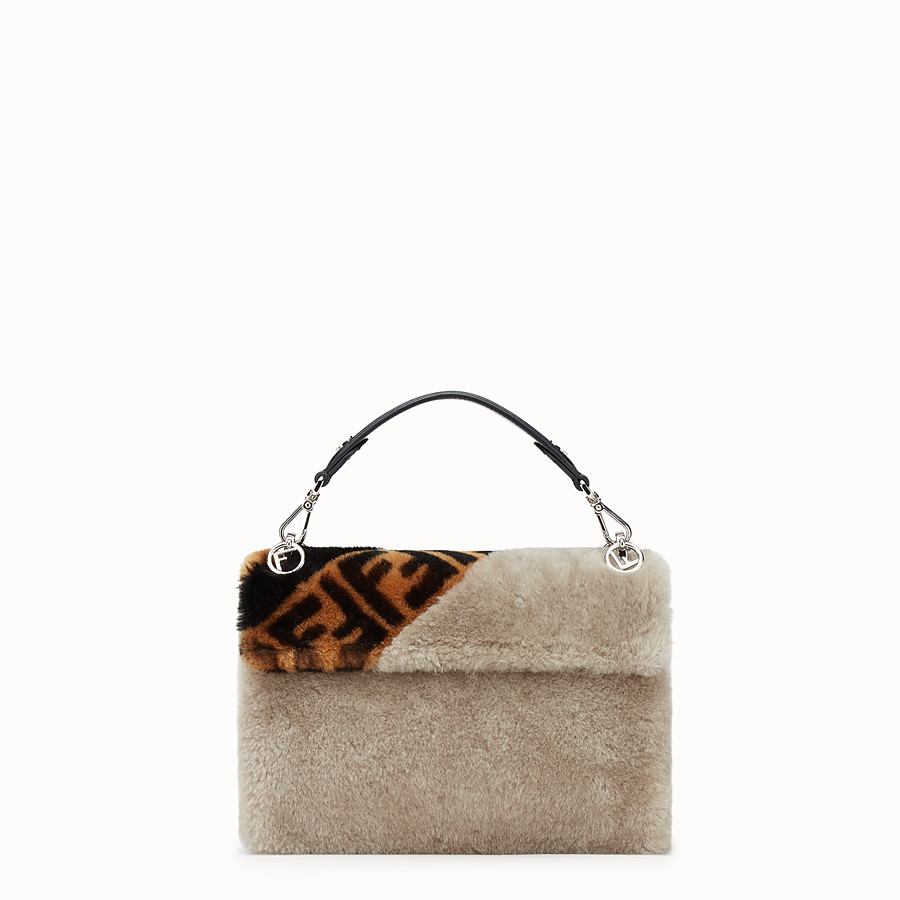 FENDI KAN I - Multicolor sheepskin bag - view 3 detail