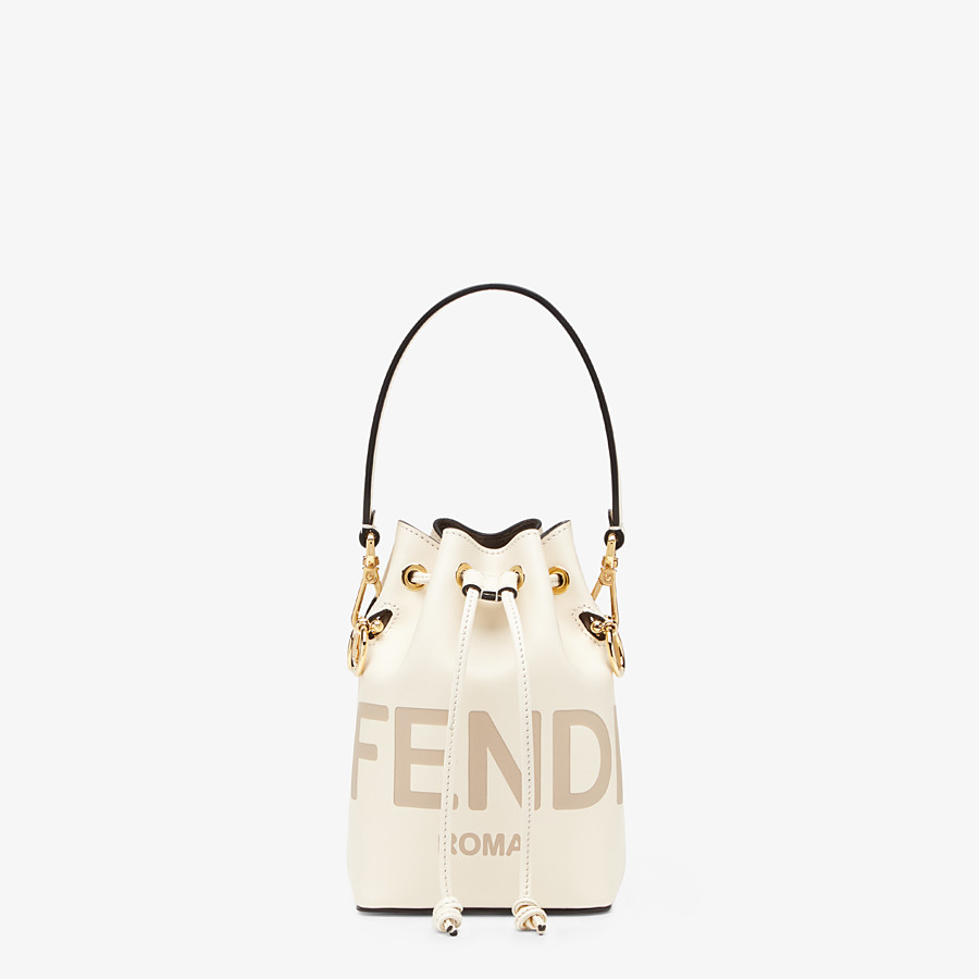 FENDI MON TRESOR - White leather mini-bag - view 1 detail