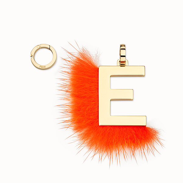 FENDI ABCLICK E - Pendant with orange fur - view 1 small thumbnail