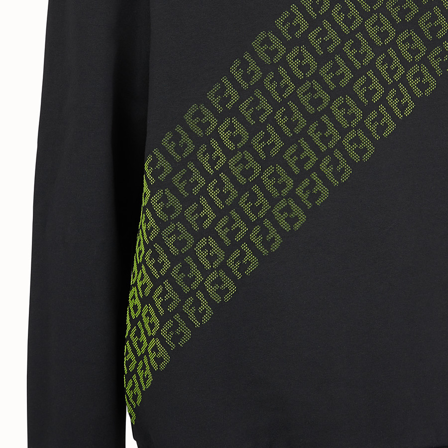 FENDI SWEATSHIRT - Black cotton jersey jumper - view 3 detail