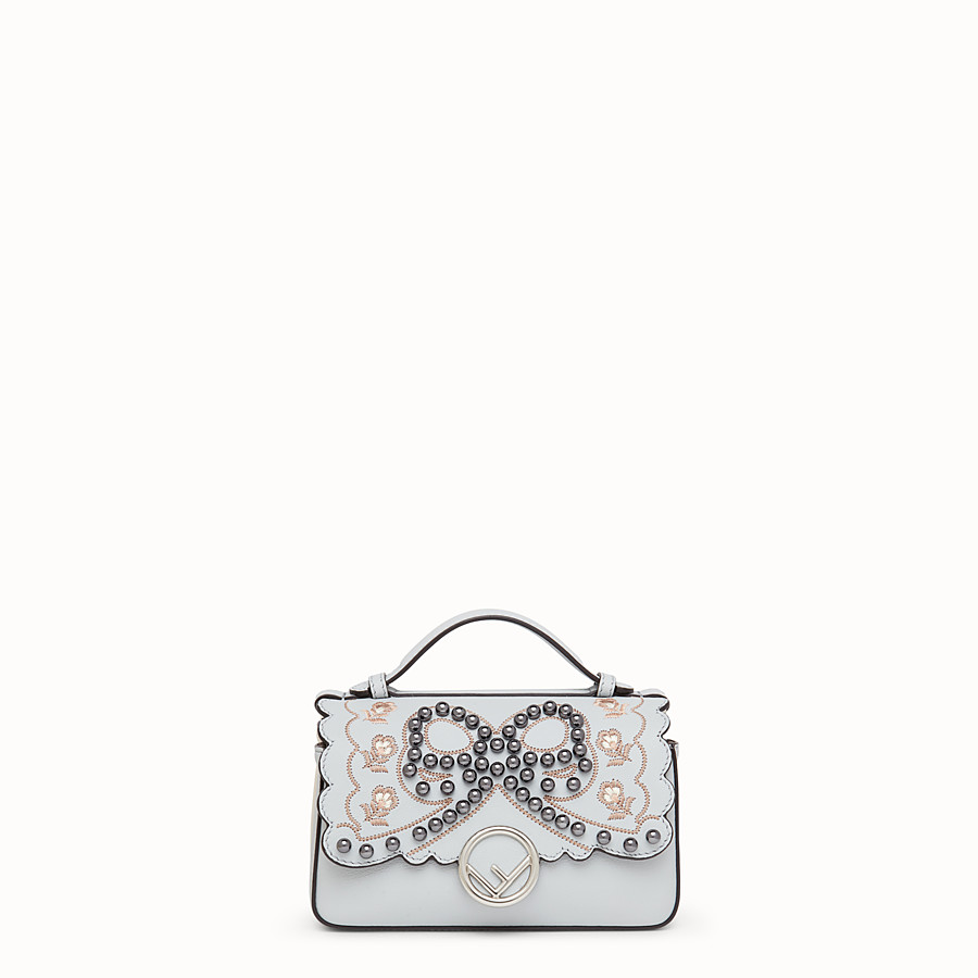 FENDI DOUBLE MICRO BAGUETTE - Minibag in pelle multicolor - vista 1 dettaglio