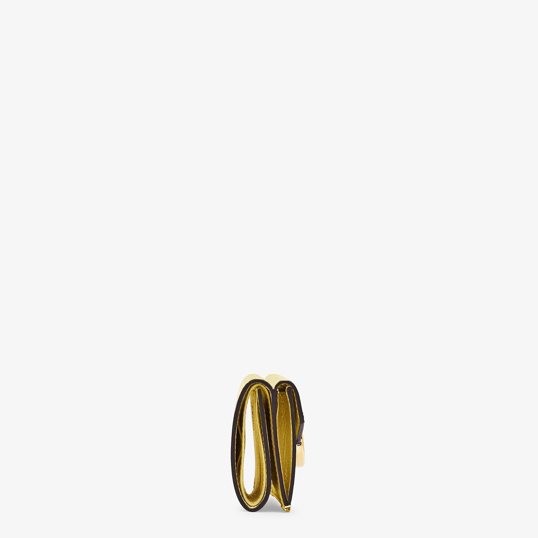 FENDI MICRO TRIFOLD - Yellow leather wallet - view 3 detail