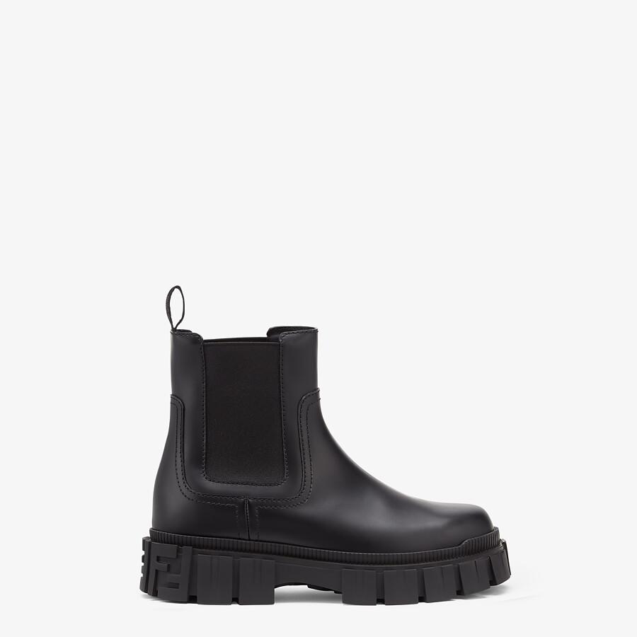 FENDI FENDI FORCE - Black leather Chelsea boots - view 1 detail