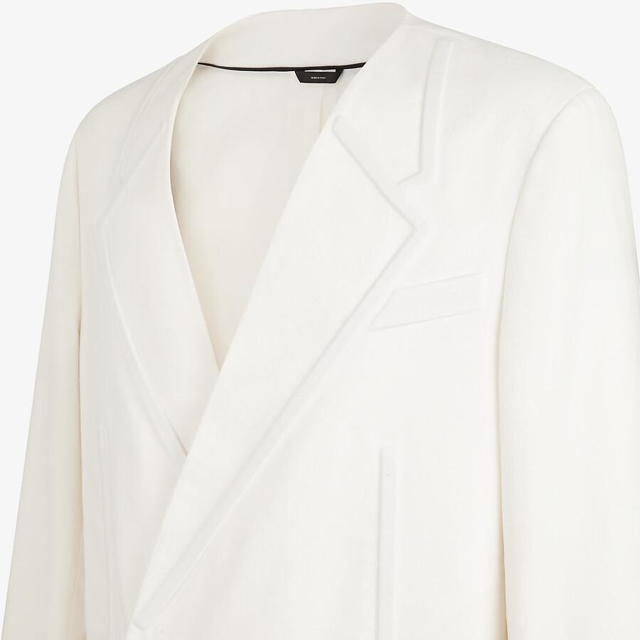 FENDI COAT - White linen coat - view 3 detail