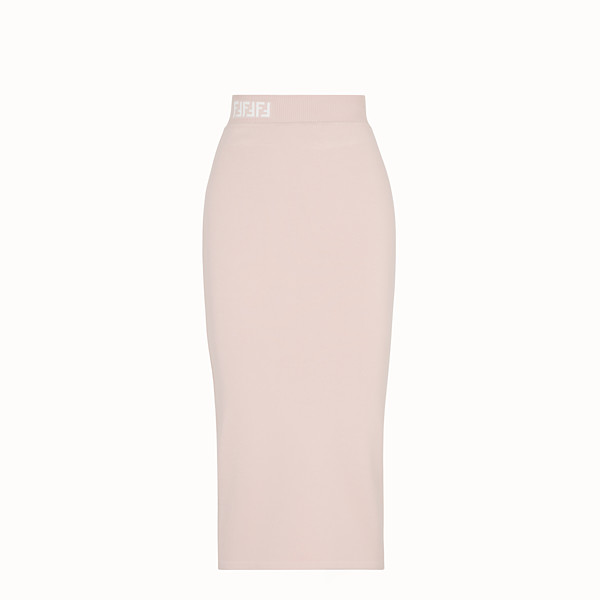 FENDI SKIRT - Pink fabric skirt - view 1 small thumbnail