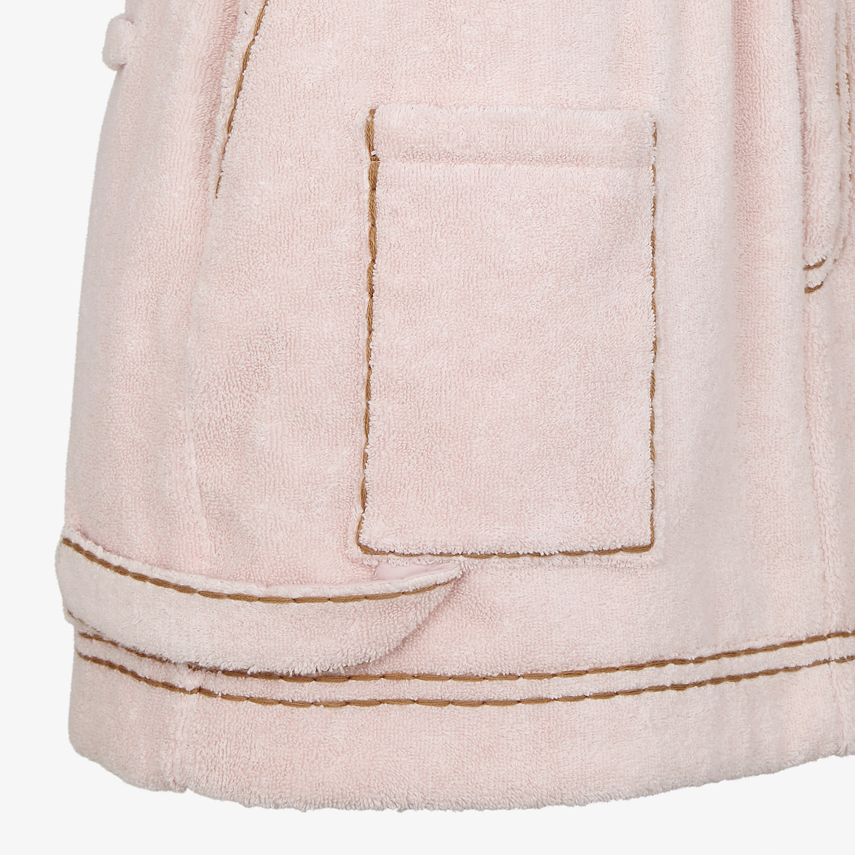 FENDI SKIRT - Pink terry skirt - view 3 detail