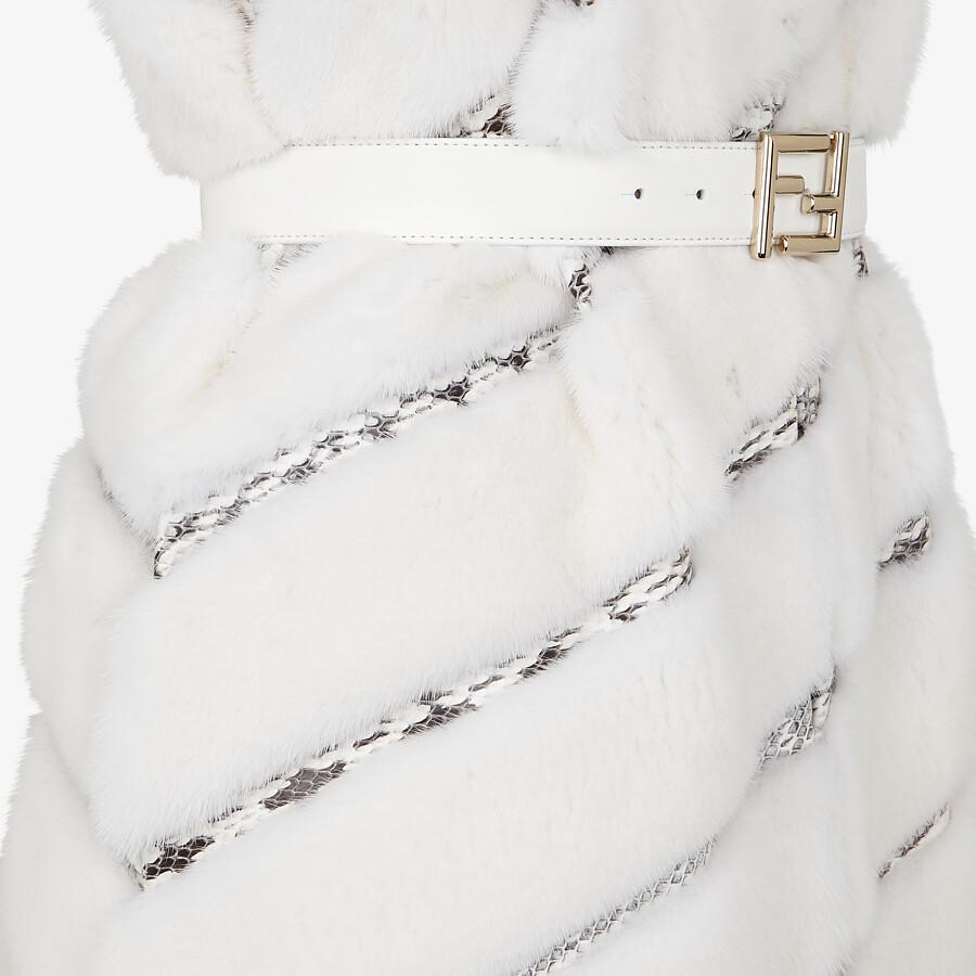 FENDI VEST - White mink vest - view 3 detail