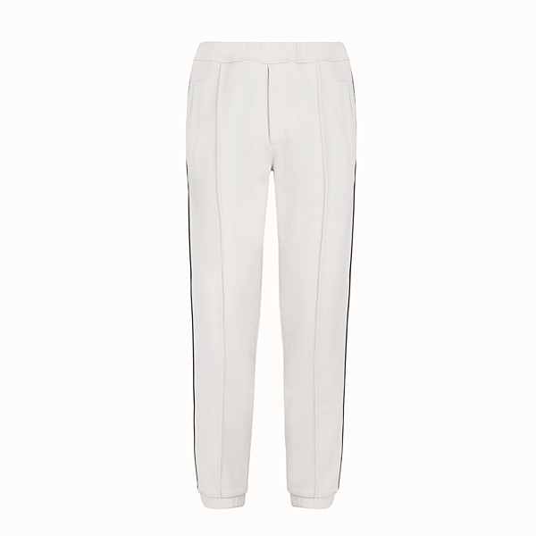 FENDI TROUSERS - Grey jersey trousers - view 1 small thumbnail