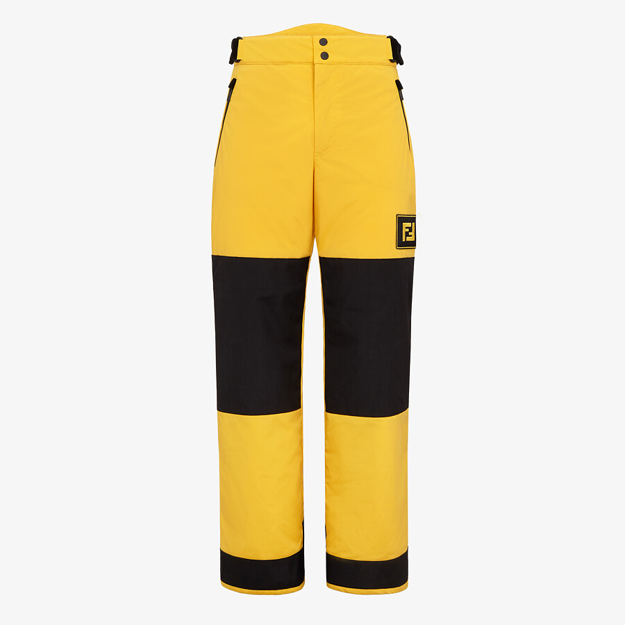 FENDI PANTS - Yellow tech fabric jogging pants - view 1 detail