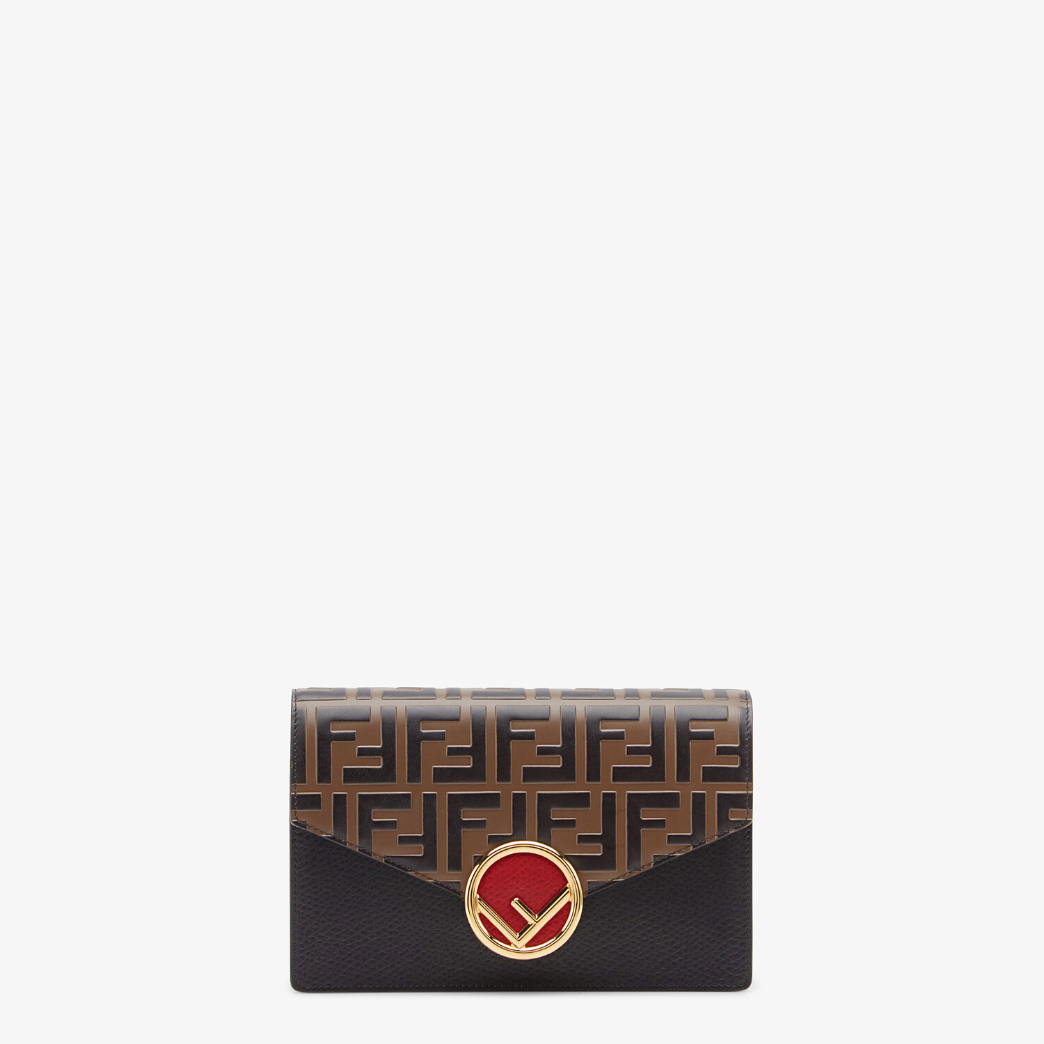 FENDI WALLET ON CHAIN - Black leather mini bag - view 1 detail