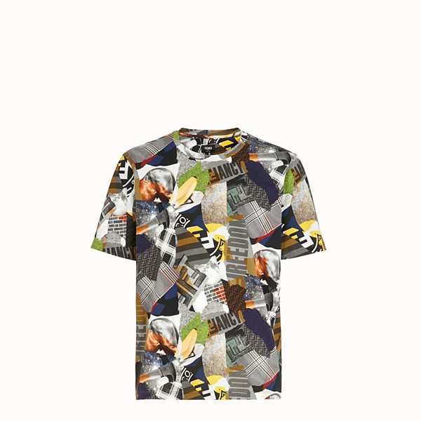FENDI T-SHIRT - T-shirt en coton multicolore - view 1 small thumbnail