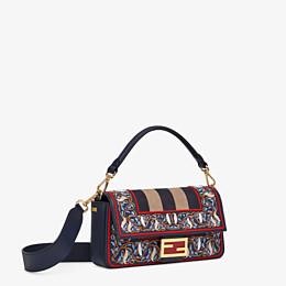 FENDI BAGUETTE - Blue leather bag - view 3 thumbnail