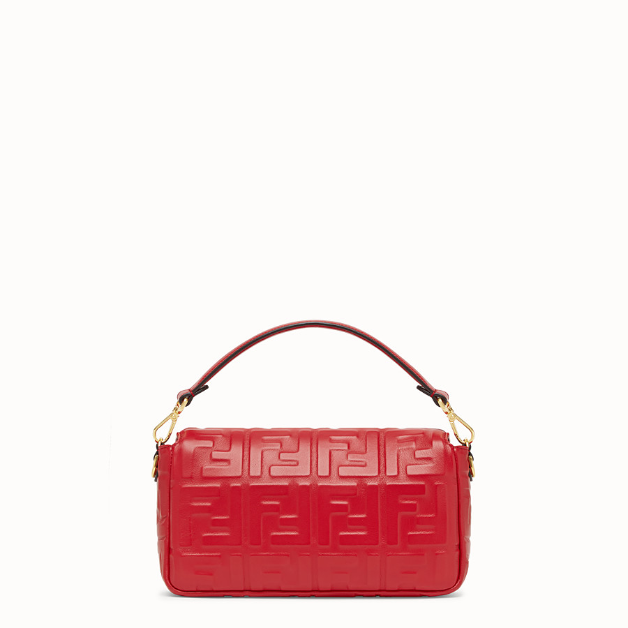 FENDI BAGUETTE - Sac en cuir rouge - view 4 detail