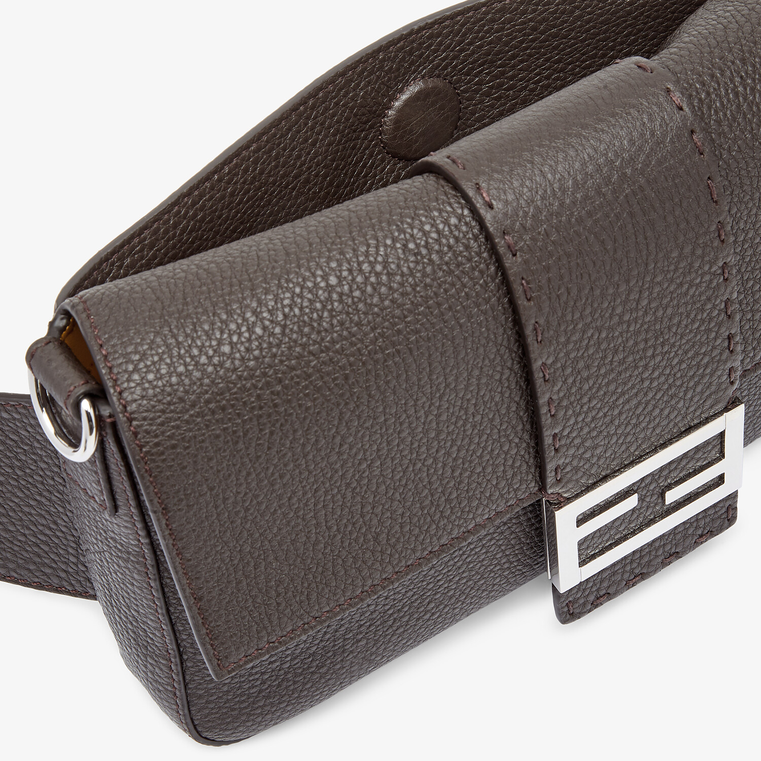 FENDI BAGUETTE - Brown leather bag - view 6 detail