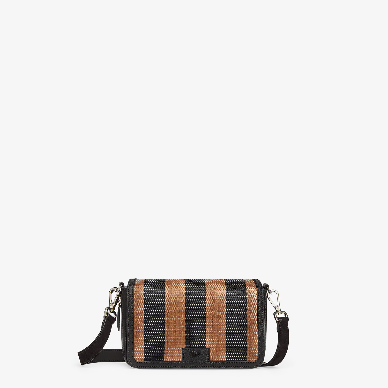 FENDI FLAP BAG - Brown raffia bag - view 1 detail